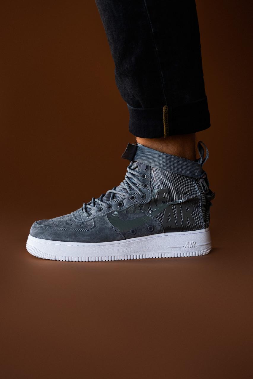 Мужские кроссовки Nike SF AF1 Gray, Реплика