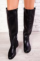 Ботфорты кожа на широкую голень размерный ряд с 36 по 40 - удобные модные женские сапоги