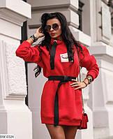 Платье - худи женское.Размер: 42-46. Трехнить на флисе.Цвет чёрный, белый, красный, хаки. Без пояса!