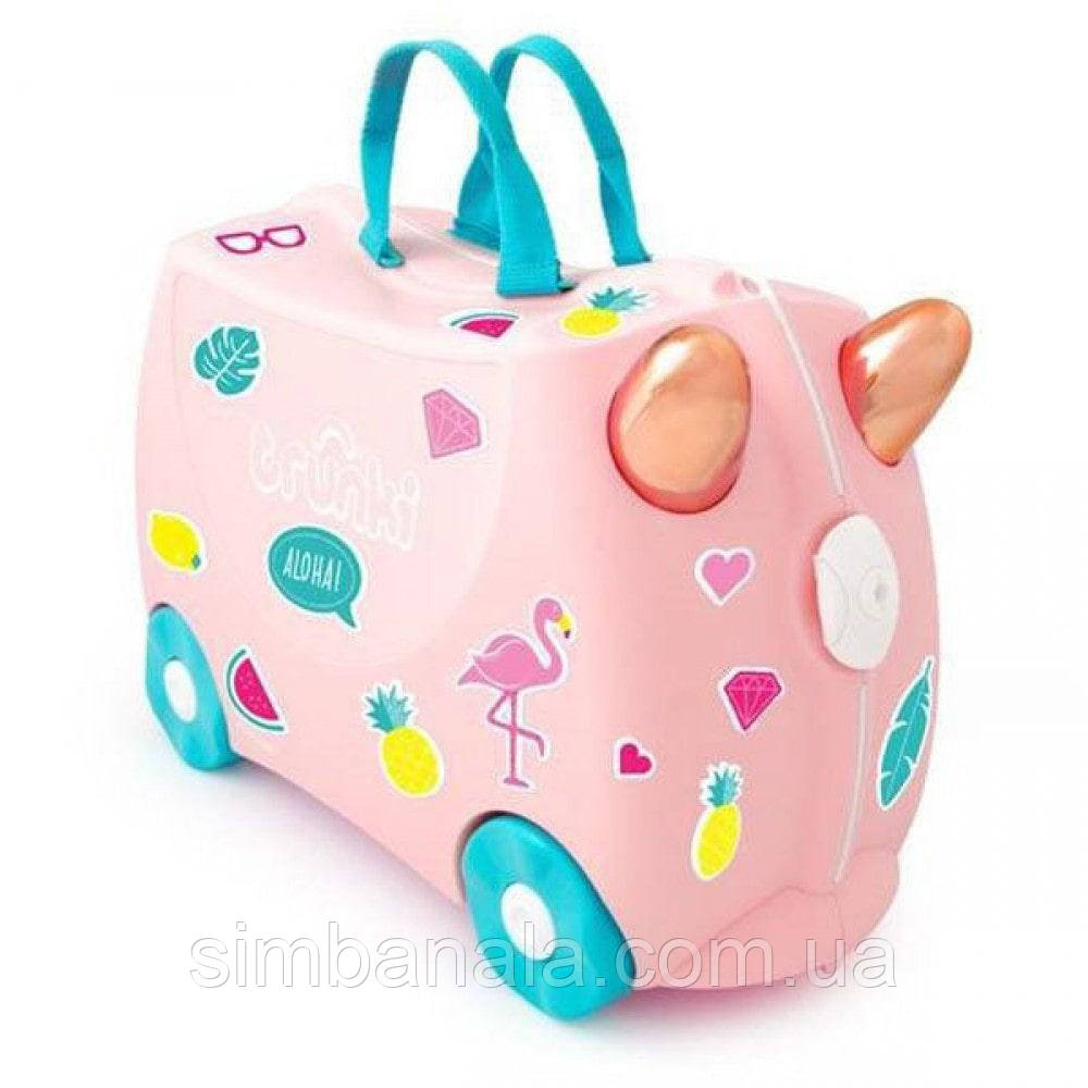 Детский чемодан Trunki Flossi Flamingo(с наклейками), Великобритания