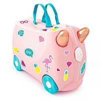 Детский чемодан Trunki Flossi Flamingo(с наклейками), Великобритания, фото 1