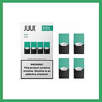 Картриджи Juul (Juul Pods) Мята / Mint  оригинал для электронной сигареты Джул.