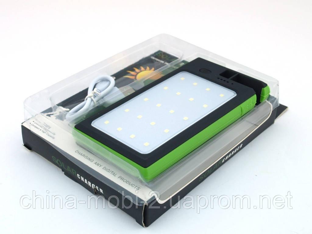 DLS16 Power Bank 54000mAh Solar Charger с солнечной панелью LED светильником  прожектором , зеленый