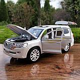 ✅Машинка металева Toyota Land Cruiser 200 світло, звук, 1:24, фото 2