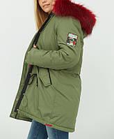 Зимняя куртка-парка женская 48р, теплая куртка