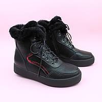 Зимние черные кожаные ботинки для девочки тм Bi&Ki размер 34,35,37,38, фото 1