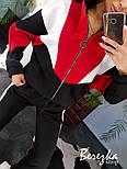 Спортивный женски костюм утепленный на флисе с кофтой на молнии vN3495, фото 2