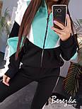 Спортивный женски костюм утепленный на флисе с кофтой на молнии vN3495, фото 3