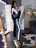 Спортивный женски костюм утепленный на флисе с кофтой на молнии vN3495, фото 7