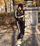 Кожаные женский брючный костюм с кофтой на молнии vN3498, фото 3