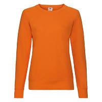 Модный женский демисезонный свитшот ярко-оранжевого цвета