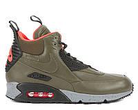 Мужские кроссовки Nike Air Max 90 Sneakerboot Green (найк аир макс 90 сникербут, термо)