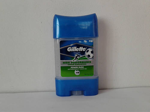 Гелевый мужской дезодорант антиперспирант Gillette Power Rush 70 мл. (Жилет Повер Раш)