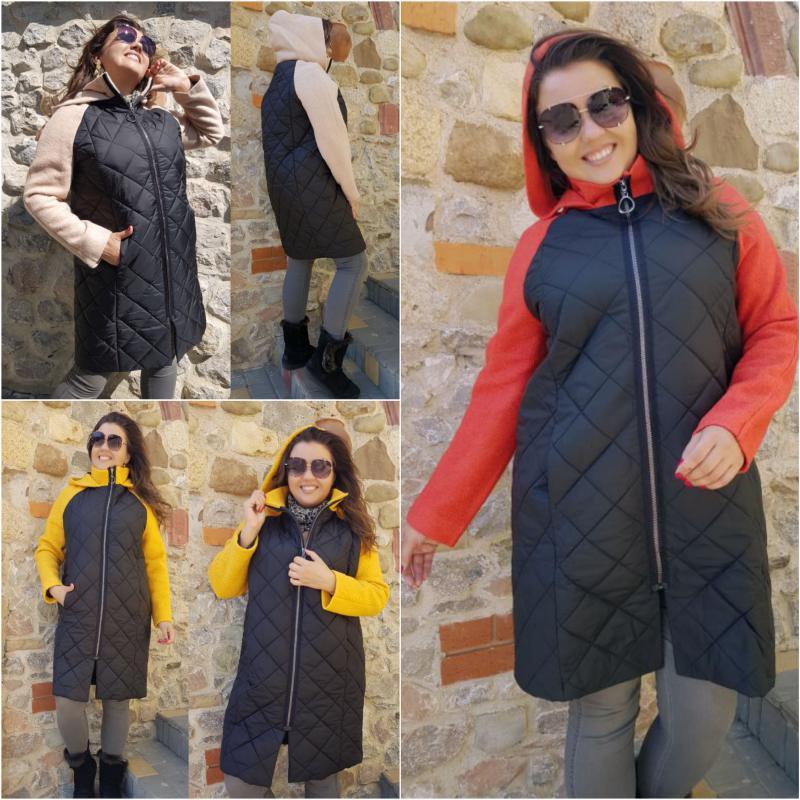 Женское пальто Реглан Арт.05048 ХЛ+