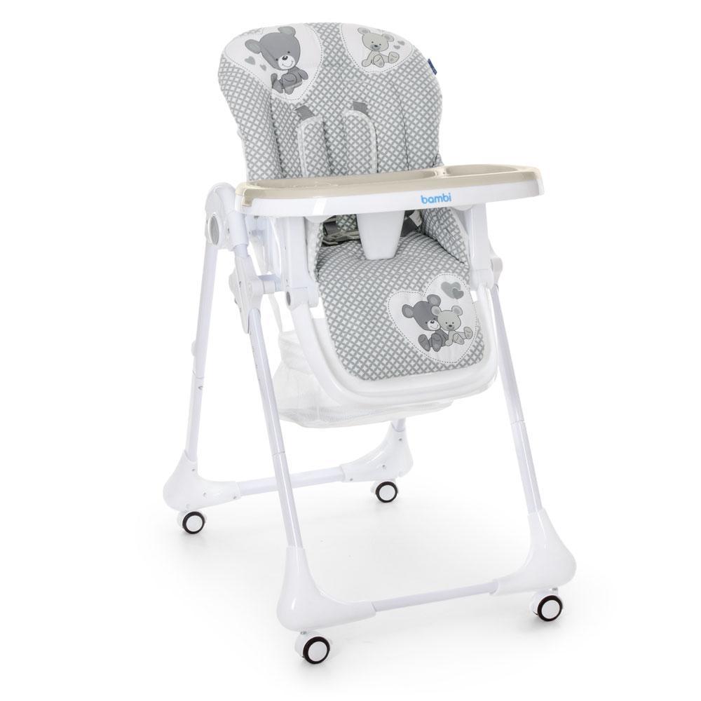 Стульчик для кормления с выдвижным столиком M 3233 Teddy Gray Гарантия качества Быстрая доставка
