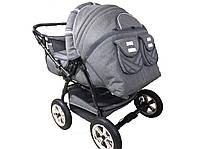 Детская прогулочная коляска трансформер Trans Baby (ткань лен)