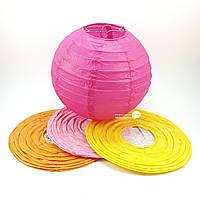 Фонарь цветной бумажный, подвесной шар d-20см (27813)