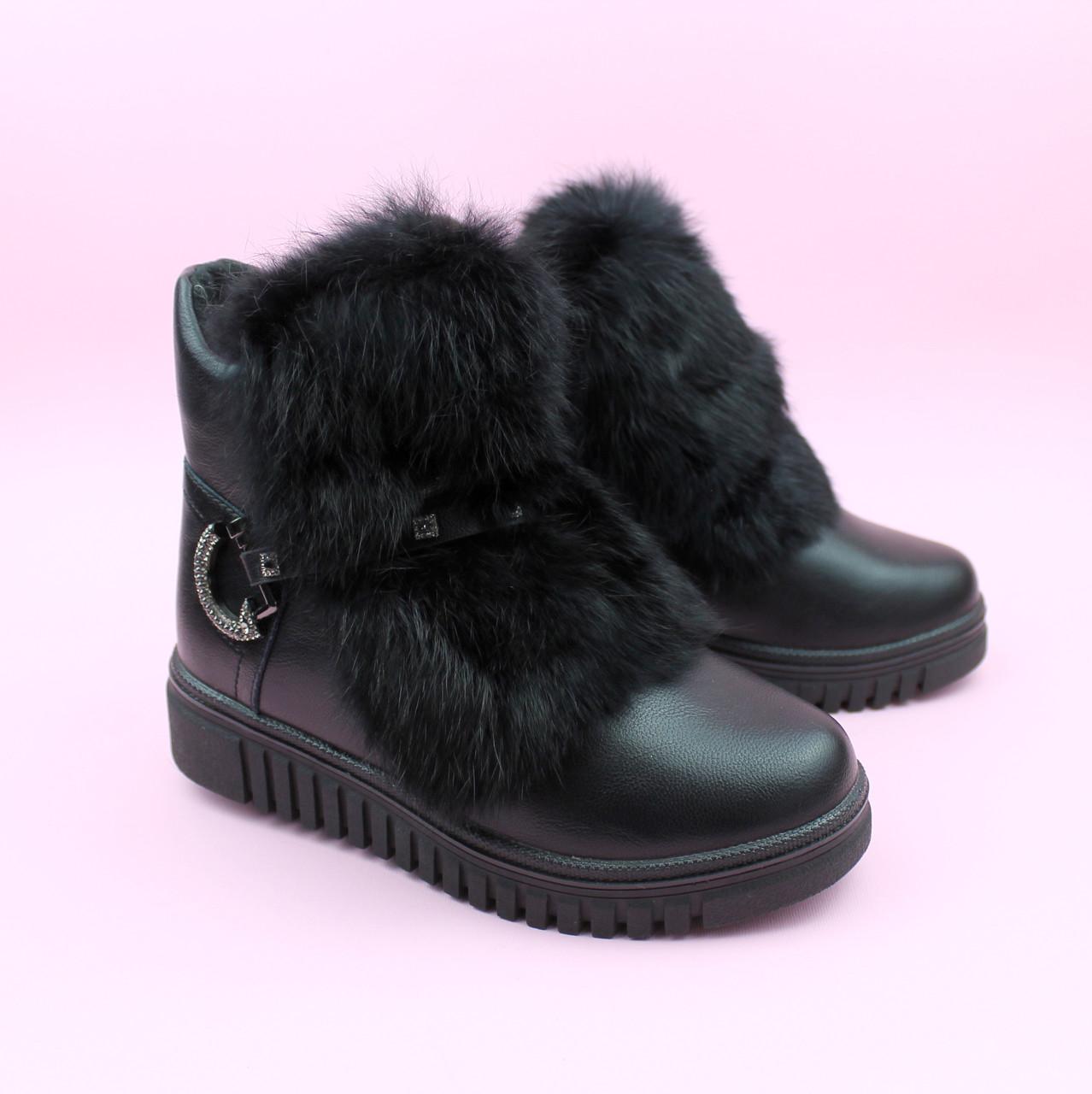 Зимние ботинки сапожки для девочки черные тм Том.м размер 34,37