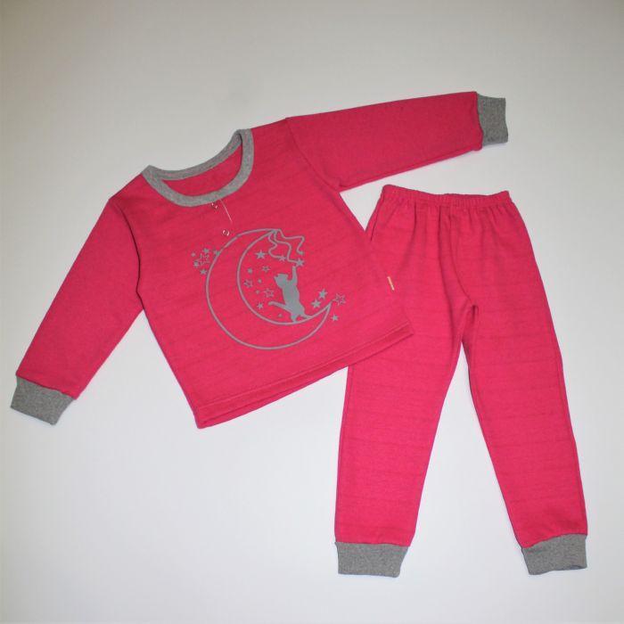 Піжама для дівчинки байка з малюнком з манжетами 92-116 розміри
