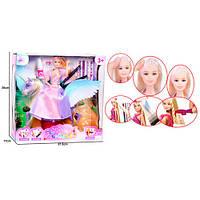 Кукла 68127 (18шт) шарнирн28см,единорог33см, краска/наклейки для волос, в кор-ке,33,5-32,5-12,5см