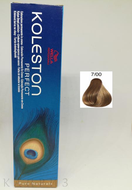 Крем-краска Wella Professionals Koleston Perfect 7/00, 60 мл
