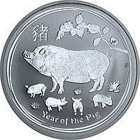 Серебряная монета 1oz Год Свиньи 1 доллар 2019 Австралия