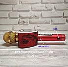 Портативный bluetooth караоке-микрофон Q5 Сердце Красный с подсветкой, фото 5