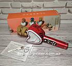 Портативный bluetooth караоке-микрофон Q5 Сердце Красный с подсветкой, фото 8