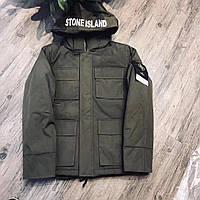 Парка мужская зимняя Stone Island цвета хаки