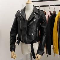 Женская  кожанка курточка-косуха экокожа ( черная), Т 070
