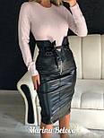 Женская коданая черная юбка - карандаш по фигуре vN3511, фото 2