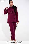 (от 48 до 62 размера) Женский брючный костюм большого размера с удлиненным верхом vN3518, фото 3
