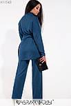 (от 48 до 62 размера) Женский брючный костюм большого размера с удлиненным верхом vN3518, фото 5