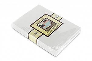 Простынь на резинке трикотажная Nostra 180х200 белая, фото 2