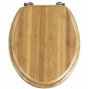 Сиденье для унитаза из бамбукового дерева, стульчак Comfort Wooden, фото 2