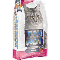 Пан Кот Микс универсальный сухой корм для взрослых кошек всех пород, 0.4кг