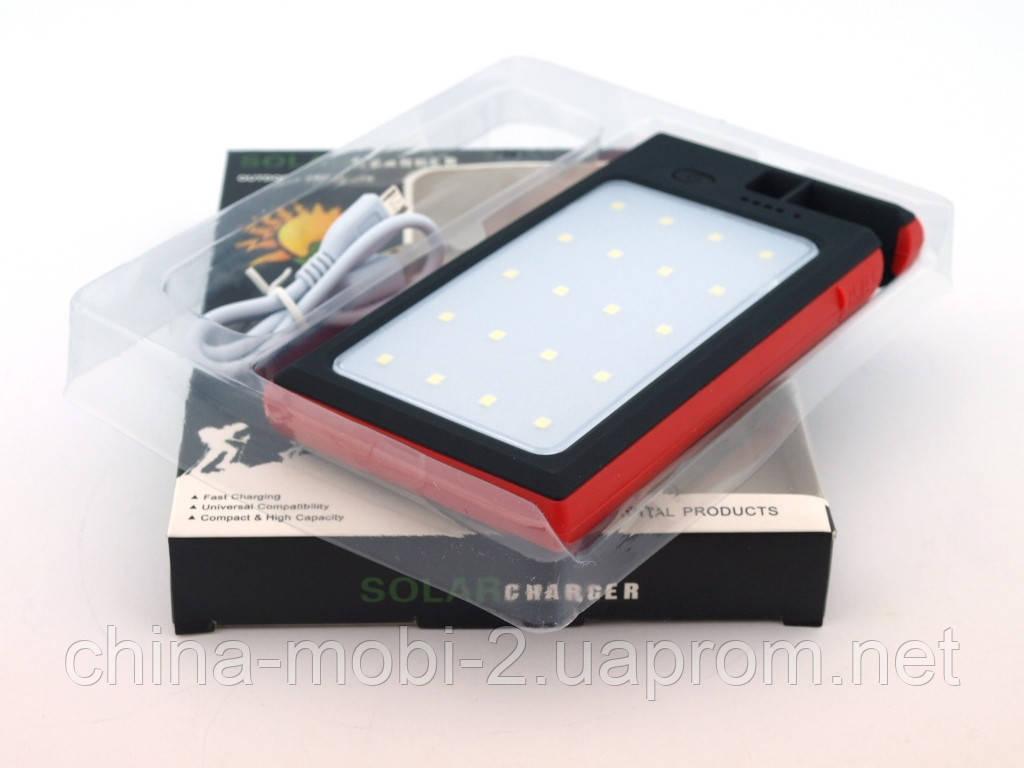 DLS16 Power Bank 54000mAh Solar Charger с солнечной панелью LED светильником  прожектором ,, красный
