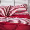 Постільна білизна двоспальне поплін PF054 Червоний/Червона смуга Бавовняні традиції