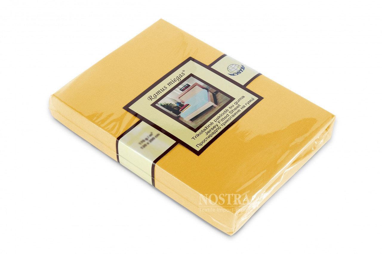 Простынь на резинке трикотажная Nostra 180х200 желтая