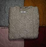 Женский вязаный свитер с шерстью с воротником стойкой vN3554, фото 3