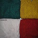 Женский шерстяной объемный свитер с узором и овальный вырезом горловины vN3555, фото 3