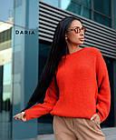 Свободный женский вязаный свитер на каждый день vN3562, фото 4
