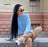 Свободный женский вязаный свитер на каждый день vN3562, фото 6