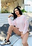 Свободный женский вязаный свитер на каждый день vN3562, фото 8