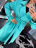 Женский тренч на запах с сумкой на поясе и ремешками на рукавах vN3564, фото 6