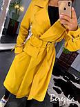 Женский тренч на запах с сумкой на поясе и ремешками на рукавах vN3564, фото 7
