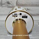 Караоке-микрофон bluetooth WS858 Золото. Портативный блютуз караоке микрофон, фото 6