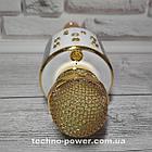 Караоке-микрофон bluetooth WS858 Золото. Портативный блютуз караоке микрофон, фото 7