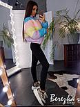Женская цветная короткая куртка на молнии с воротником-стойкой vN3568, фото 3