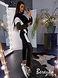 Утепленный женский спортивный костюм с укороченным худи и рукавом летучая мышь vN3575, фото 3